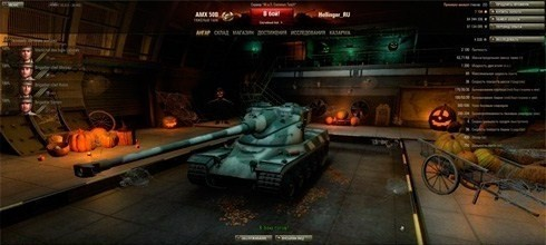 World of tanks - новый премиумный ангар Halloween