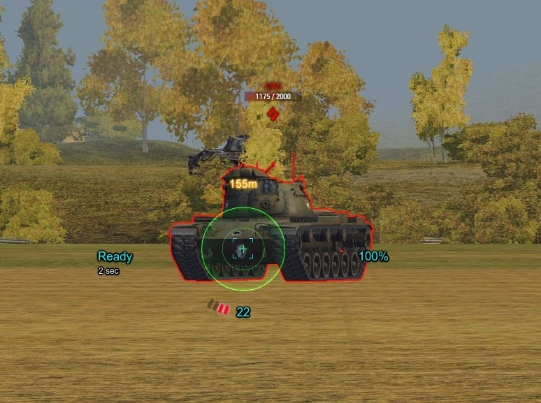 World of Tanks - прицел turquoise-2